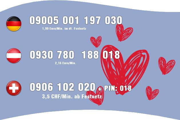 Guter Hausfrauen Telefonsex für Deutschland, Österreich und Schweiz aus dem Festnetz